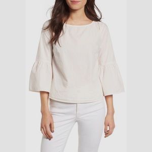 MADEWELL WHITE BELL SLEEVED CROP TOP